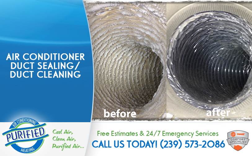 Air Conditioner Duct Sealing / Duct Cleaning in and near Cape Coral Florida