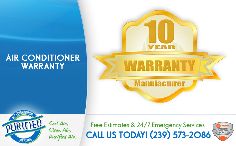 Air Conditioner Warranty in and near Fort Myers Florida