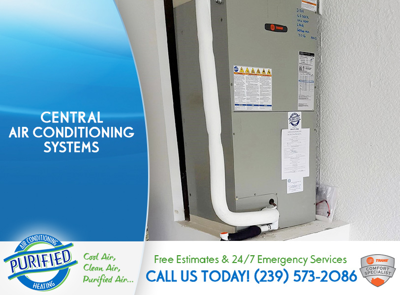 Central Air Conditioning Systems in and near Fort Myers Beach Florida