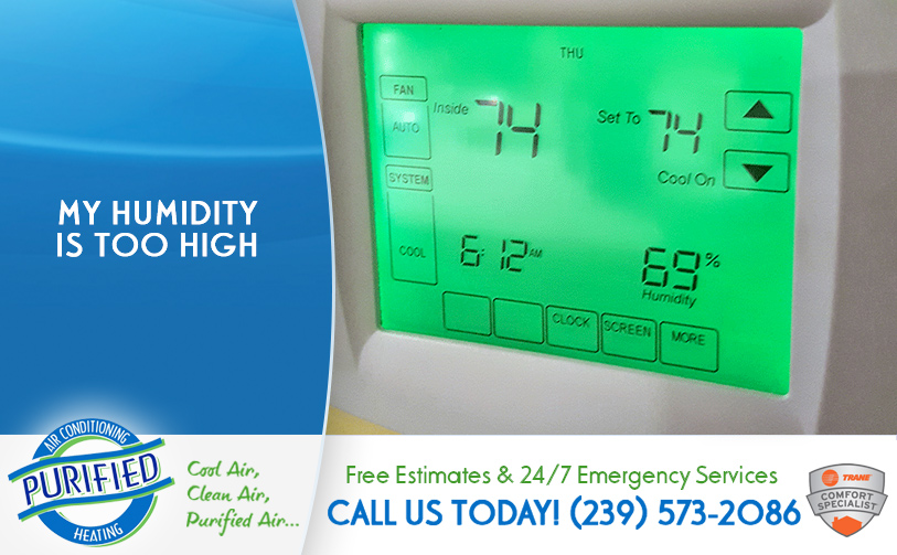 My Humidity Is To High in and near Lee County Florida