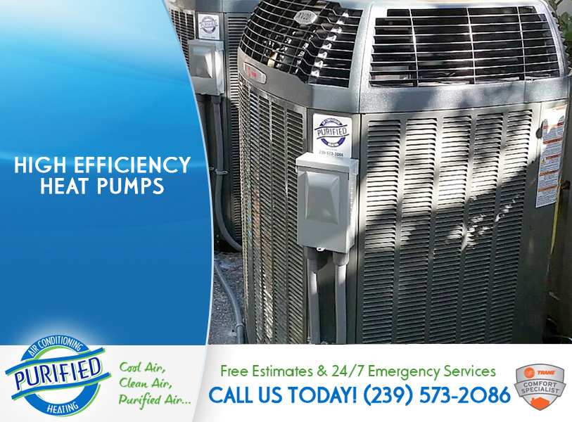 High Efficiency Heat Pumps in and near North Fort Myers Florida