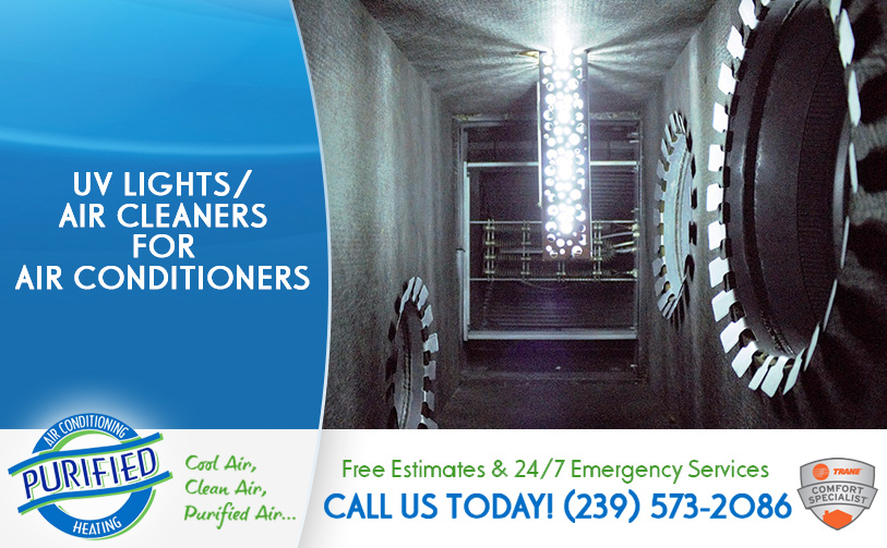 UV Lights/Air Cleaners for Air Conditioners in and near North Fort Myers Florida