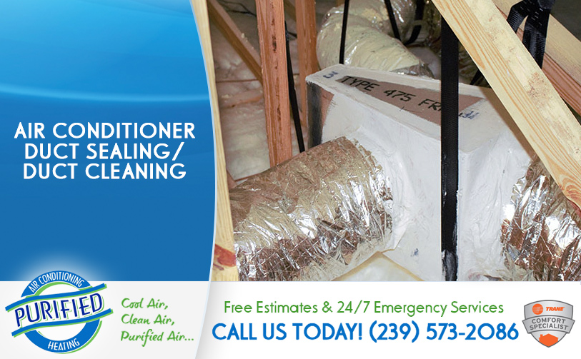 Air Conditioner Duct Sealing / Duct Cleaning in and near Sanibel Florida